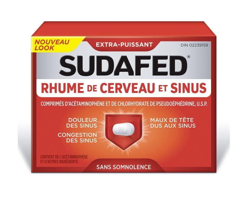 SUDAFED® RHUME DE CERVEAU ET SINUS