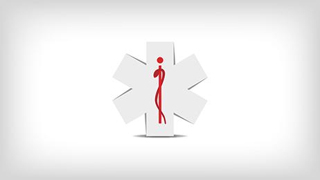 Services medicaux d'urgence - Icone de l'etoile de la vie